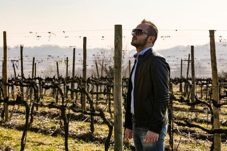 Me in Berlucchi's vineyards