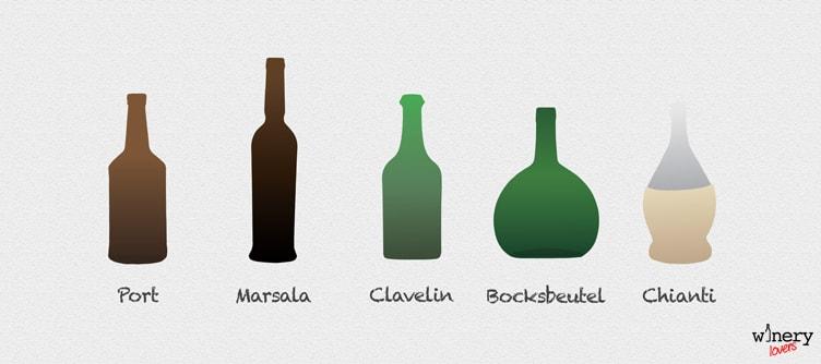 Wine Bottle Shapes Three
