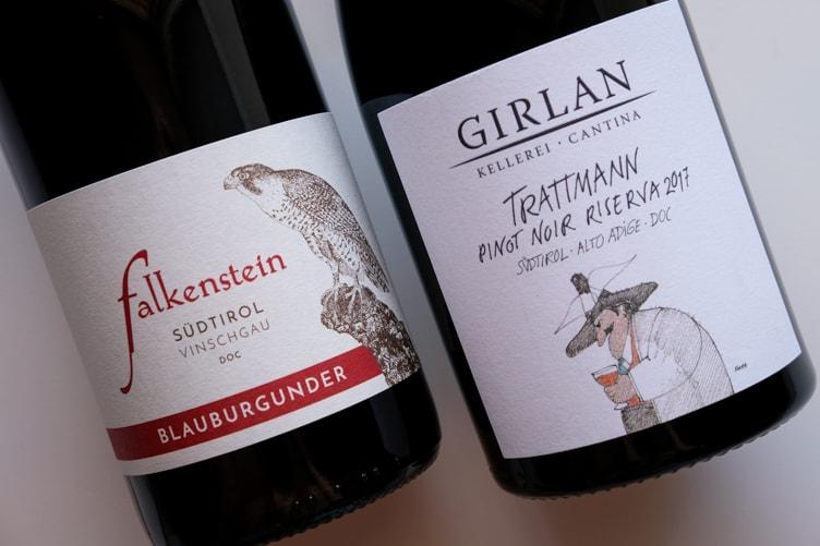 Alto Adige Wine Altitude Falkenstein Girlan Pinot Noir